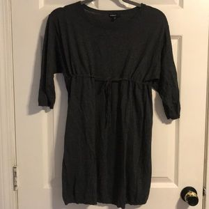 Grey sweater Maternity tunic